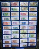 Collection of Indonesia`s paper money displayed in a museum photo taken in Bogor Indonesia. Java royalty free stock photos