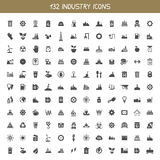 Collection industry icons Royalty Free Stock Photos