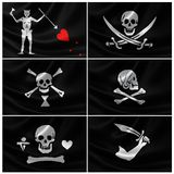 Collection of Infamous Pirate Flags Stock Images