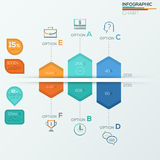 Collection of infographic brochure elements for business data visualization Stock Photos
