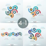Collection of 4 infographic design templates Royalty Free Stock Photography