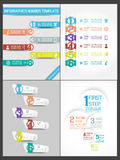 Collection infographic number option template Royalty Free Stock Photography