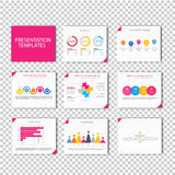 Collection of infographic Template Stock Photos