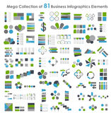 Collection of Infographic Templates for Business Royalty Free Stock Images