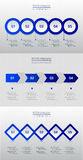 Collection of infographic templates for business Stock Images