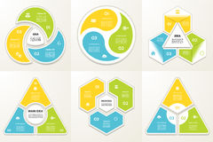 Collection of Infographic Templates for Business. Stock Image