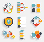 Collection of Infographic Templates for Business Vector Illustra Stock Photo
