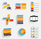Collection of Infographic Templates for Business Vector Illustra Stock Images