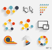 Collection of Infographic Templates for Business Vector Illustra Stock Image