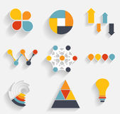 Collection of Infographic Templates for Business Vector Illustra Royalty Free Stock Photo