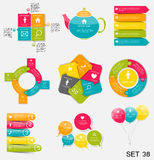 Collection of Infographic Templates for Business Vector Illustra Stock Photos