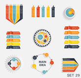 Collection of Infographic Templates for Business Vector Illustra Stock Photography