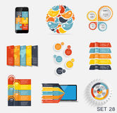 Collection of Infographic Templates for Business Vector Illustra Royalty Free Stock Photography