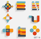 Collection of Infographic Templates for Business Stock Photo