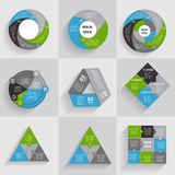 Collection of Infographic Templates for Business Royalty Free Stock Photos