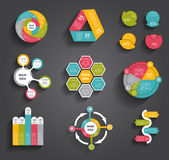 Collection of Infographic Templates for Business Stock Photography