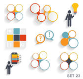 Collection of Infographic Templates for Business Stock Image
