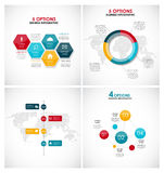 Collection of Infographic Templates for Business Stock Photos