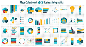 Collection of 40 Infographic Templates for Stock Photo