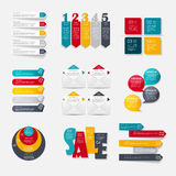 Collection of Infographic Templates for Business Royalty Free Stock Photo