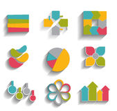 Collection of Infographic Templates for Business. Vector Illustration. EPS10 Royalty Free Stock Images