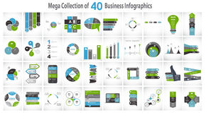 Collection of 40 Infographic Templates for Royalty Free Stock Photo