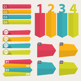 Collection of Infographic Templates for Business Vector Illustration. EPS 10 Royalty Free Stock Photo