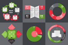Collection of Infographic Templates for Business Royalty Free Stock Photography