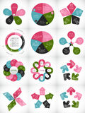 Collection of Infographic Templates for Business Royalty Free Stock Image