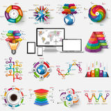 Collection of infographic vector design template Royalty Free Stock Image