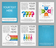 Collection Infographics for business brochures and presentations. Royalty Free Stock Image