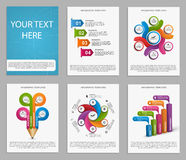 Collection Infographics for business brochures and presentations. Royalty Free Stock Photography