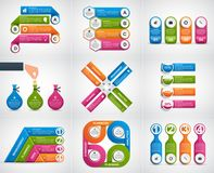 Collection infographics. Design elements. Infographics for business presentations or information banner. Vector illustration Royalty Free Stock Images