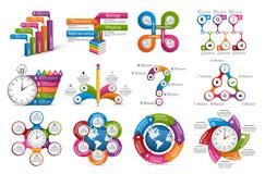 Collection infographics. Design elements. Infographics for business presentations or information banner. Vector illustration Royalty Free Stock Photography