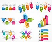 Collection infographics. Design elements. Infographics for business presentations or information banner. Royalty Free Stock Image