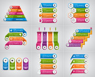 Collection infographics. Design elements. Infographics for business presentations or information banner. Stock Images