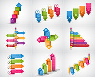 Collection infographics. Design elements. Infographics for business presentations or information banner. Stock Photos