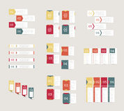 Collection of infographics design templates. Business concept with 4 options. Stock Photography