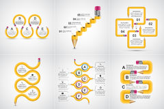 Collection Infographics for education. Infographics for presentations or information banner. Stock Image