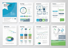 Collection Infographics elements for business brochures Stock Images