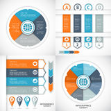 Collection infographics elements. Royalty Free Stock Photos