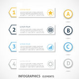 Collection infographics elements. Colorful arrows. Royalty Free Stock Photos