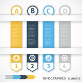 Collection infographics elements. Colorful arrows. Vector illustration Royalty Free Illustration