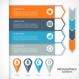 Collection infographics elements. Colorful arrows. Vector illustration vector illustration