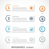 Collection infographics elements. Colorful arrows. Royalty Free Stock Photography