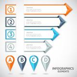 Collection infographics elements. Colorful arrows. Stock Photography