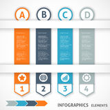Collection infographics elements. Colorful arrows. Royalty Free Stock Images