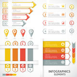 Collection infographics elements. Colorful arrows. Royalty Free Stock Image