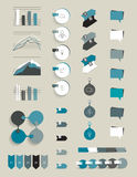 Collection of infographics elements. Royalty Free Stock Images