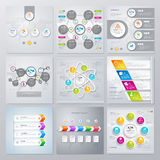 Collection of infographics elements in modern flat business style. Eps 10. Can be used for diagram, banner, number options, workflow layout, step up options Royalty Free Stock Images